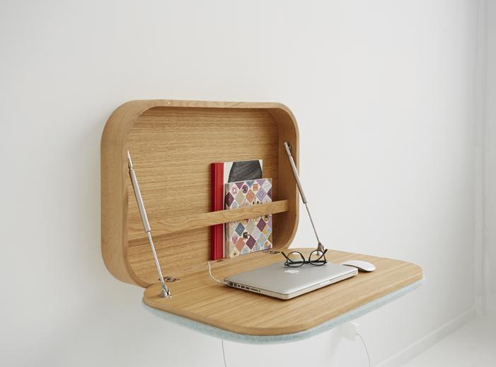 Officio mond nubo escritorio plegable de gamfratesi studio para ligne roset officio mondo - Escritorio abatible pared ...